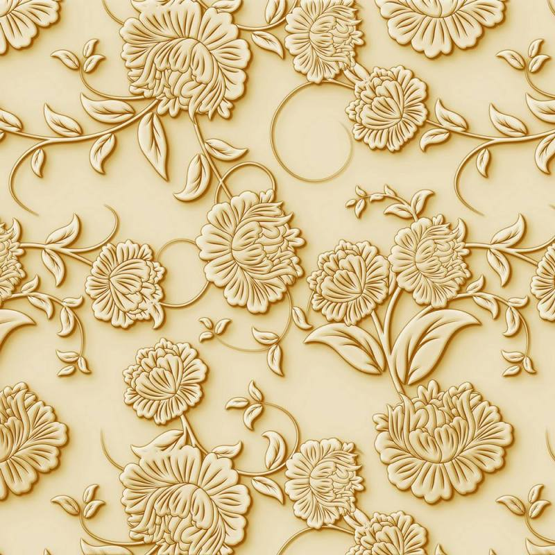 Buy Embossed Golden Roses Wallpaper 3