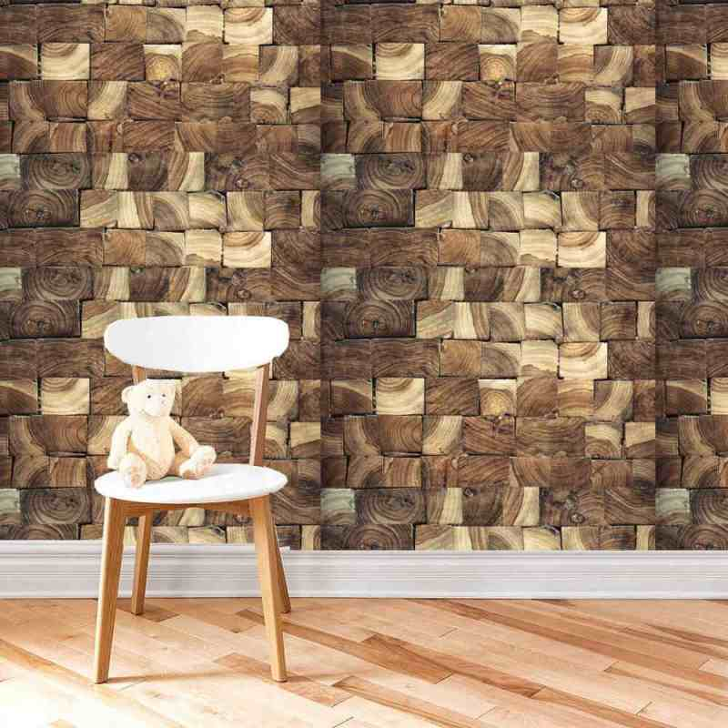 Buy Wallpaper Online With Horizontal Wood End Texture 1
