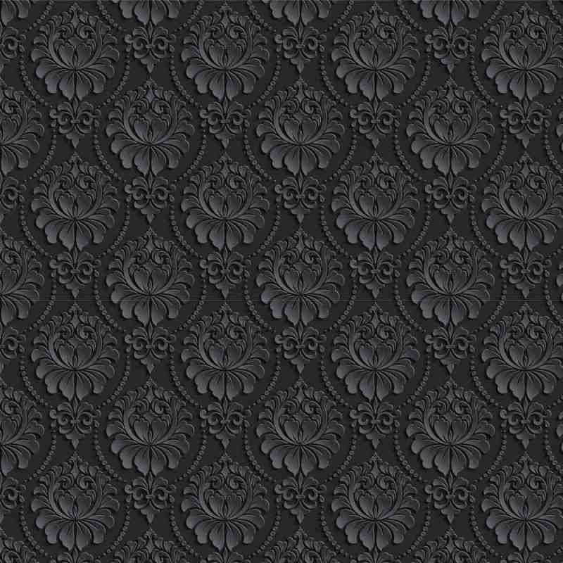 Charcoal Ornate Damask Wallpaper 2