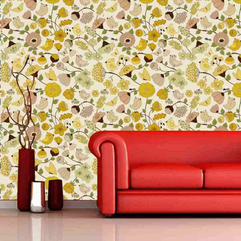 Nature Pattern Wall Covering, Tapete 1