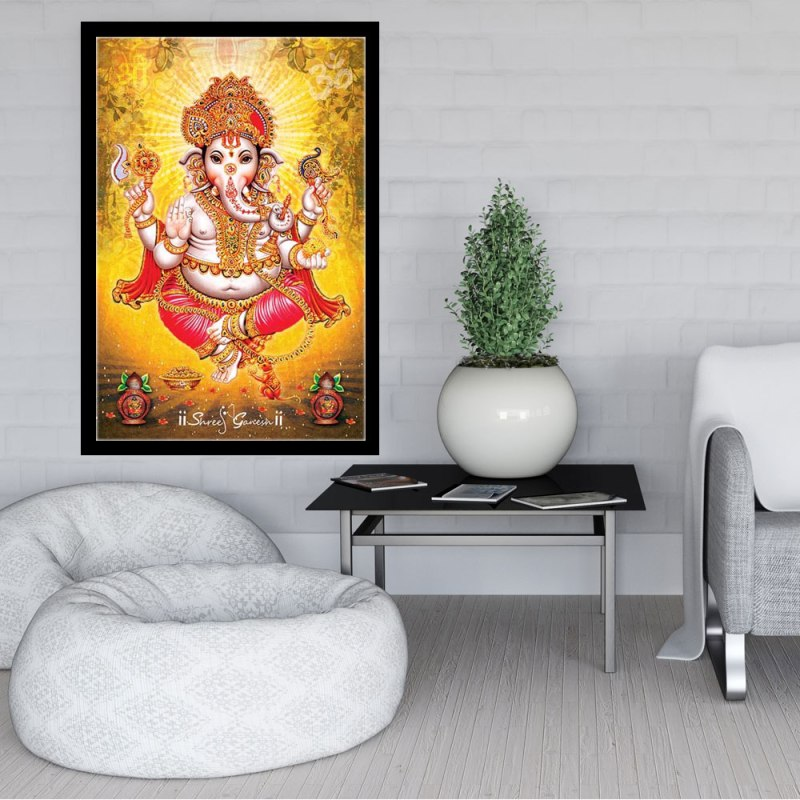 Lord Ganesha (Ganpati), Canvas, Vinyl, Art Print, Hindu God, Indian, Ethnic, Vintage, Religious, Spiritual, Poster, Wall art, Walldecor JDAPR-00007027 1