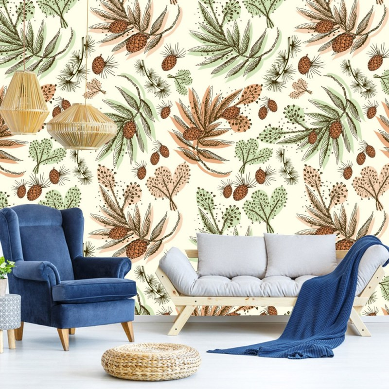 Pine And Fern Removable Wallpaper 1