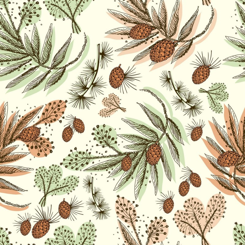 Pine And Fern Removable Wallpaper 3