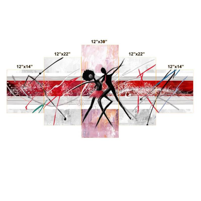 Buy Couple dancing together canvas wall decor, 5 Panel Art 2