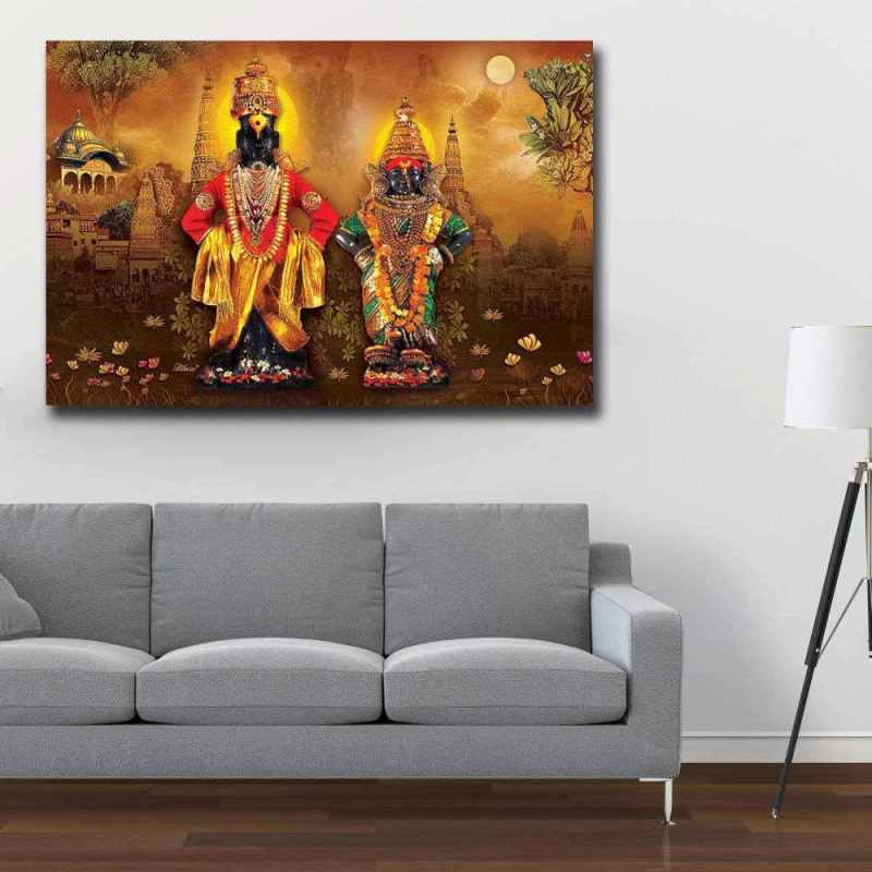 Buy Vitthal-Rukmini in Brown wall design | Print My Space JDAPR-00008340 1