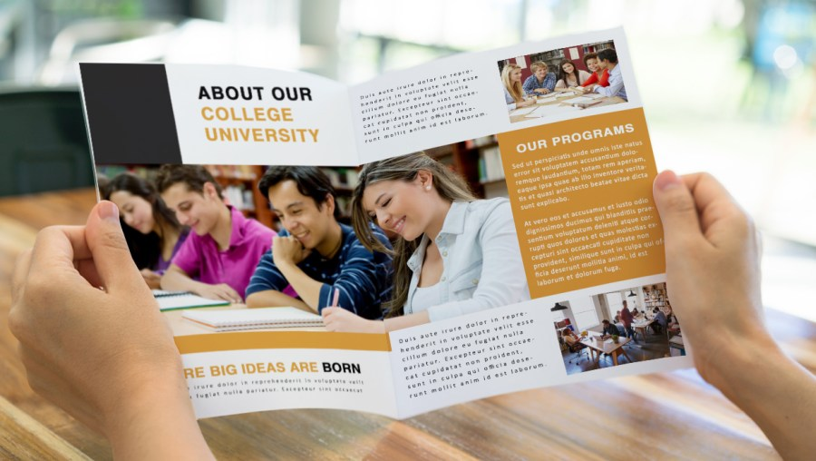 Guidelines to Creating Better Educational Brochures educational brochure with photos