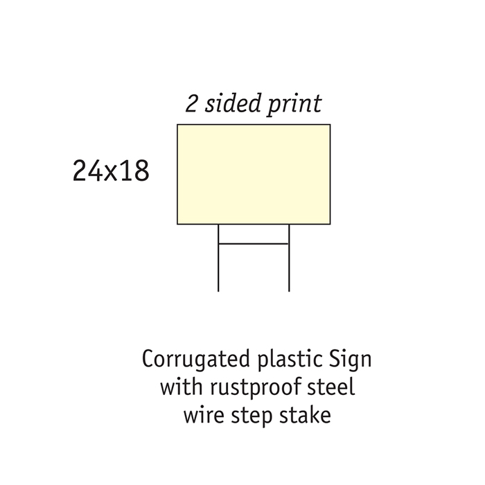 H-wire Lawn Sign Custom Design and Quick Print Toronto   Print Plus Sign