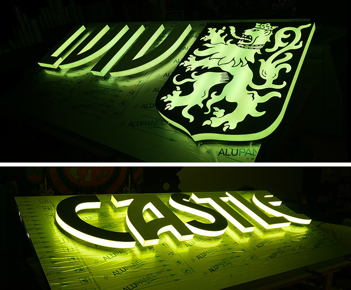 3D Letters Signs Illuminated