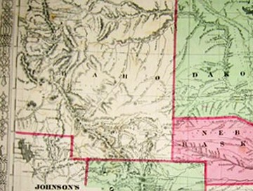 HD Decor Images » Prints Old   Rare   South Dakota   Antique Maps   Prints This antique hand colored map displays the states of Idaho  Dakota   Nebraska  Kansas  and Colorado  Dakota is displayed as one