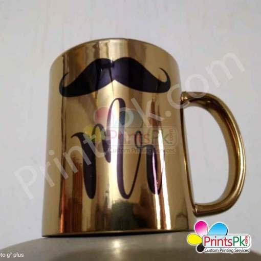 High gloss gold customize picture mug