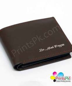 Brown-Plain-Wallet Three fold Pockets