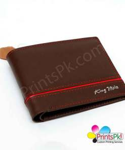 Brown Red Piping Wallet