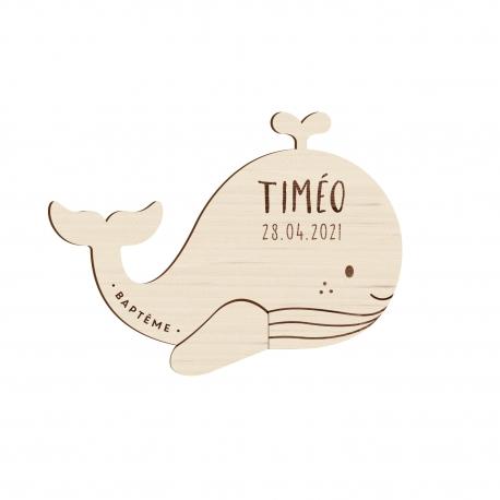 faire part bapteme original en bois theme baleine print your love