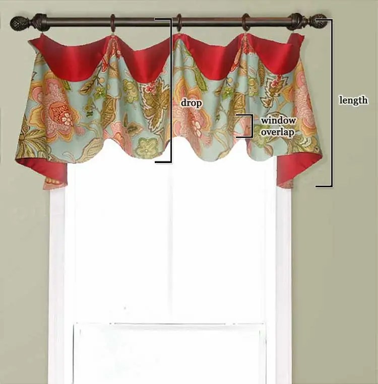 how far down should a window valance hang