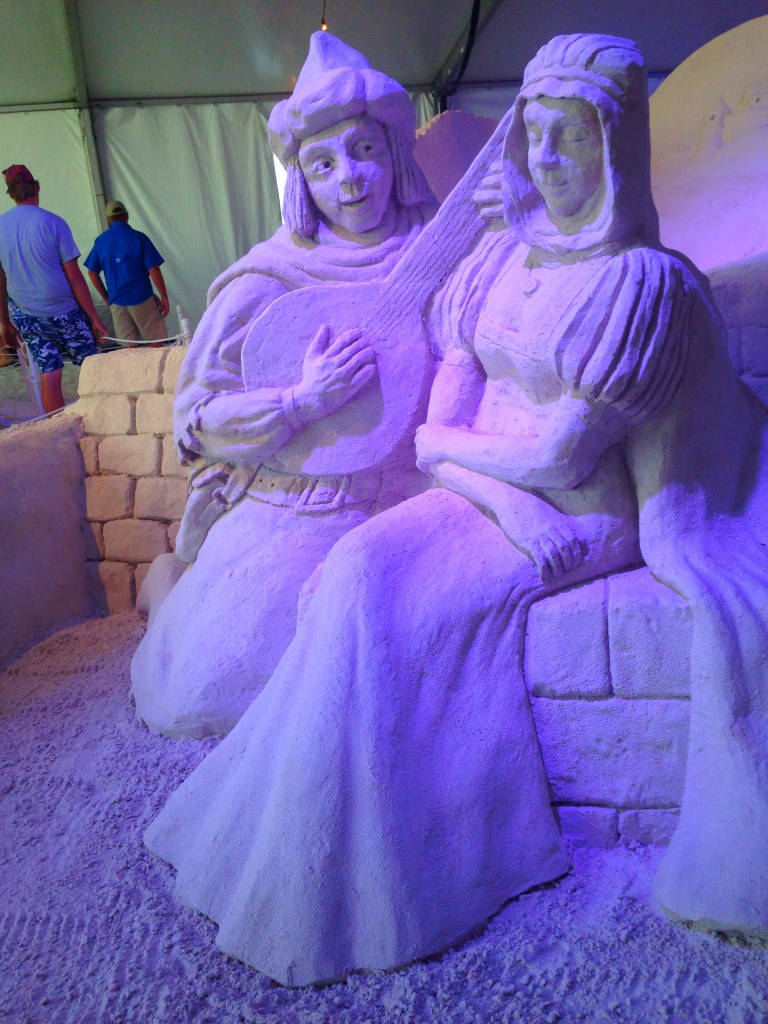 Musical Couple Sand Sculpture