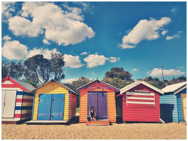 casitas de la playa de Melbourne