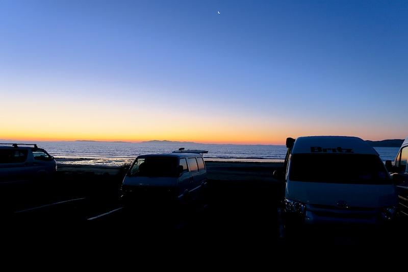 sunset nueva zelanda