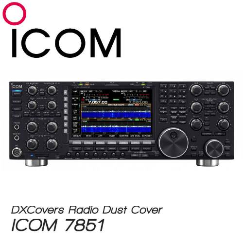 ICOM IC-7851 Prism Embroidery Radio Dust Covers shop logo