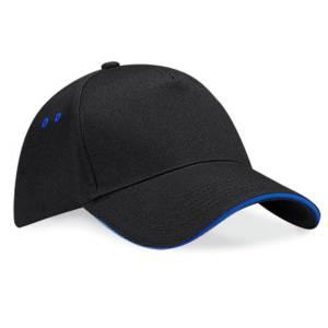 black/royal blue baseball capp