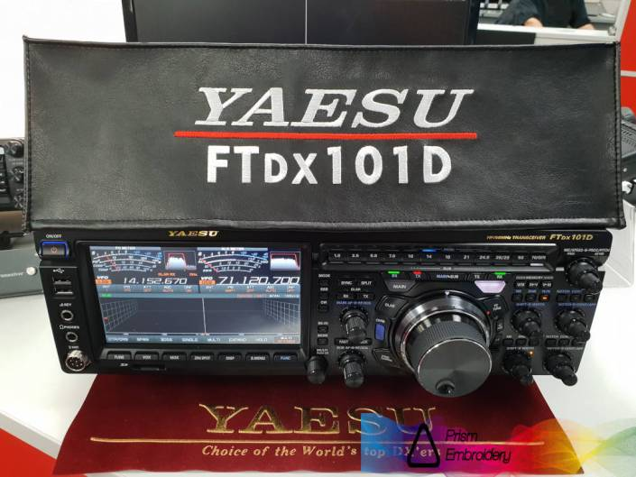 Yaesu FTDX101D radio dust cover by prism embroidery