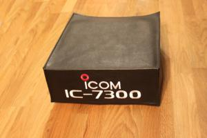 ic7300 dx coversradio dust cover on bench