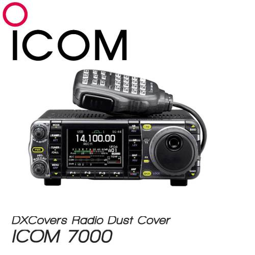 ICOM IC-7000 Prism Embroidery Radio Dust Covers shop logo