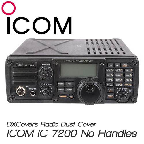 ICOM IC-7200 (no handles) Prism Embroidery Radio Dust Covers shop logo