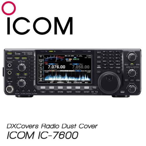 ICOM IC-7600 Prism Embroidery Radio Dust Covers shop logo
