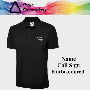 Polo shirt with your name and call sign embroidery