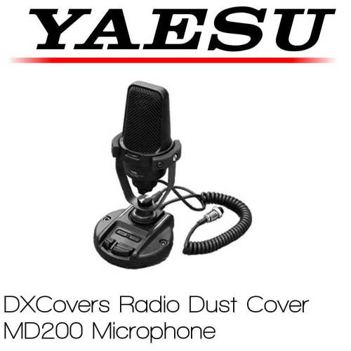Yaesu MD-200 microphone cover Prism Embroidery Radio Dust Covers shop logo