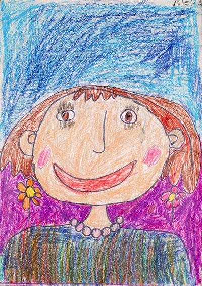 Как красиво и легко нарисовать маму карандашом и красками ...