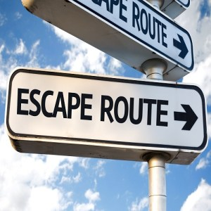 escape route sign