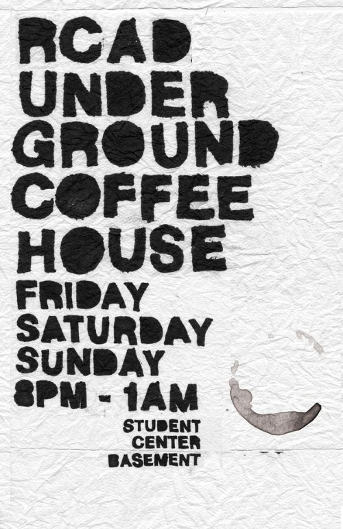 Underground Coffeehouse Posters
