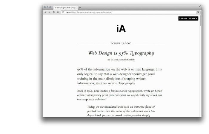 Web Design is 95 Percent Typography