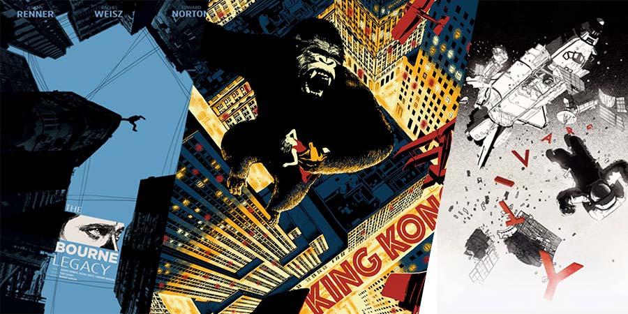 Você precisa ver os posters de filmes criados pelo designer e ilustrador Chris Thornley