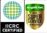 Carpet Cleaning Repair Installation Certifications | IICRC & Angies list Super Service Award