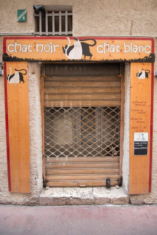 Entrance to Chat Noir Chat Blanc