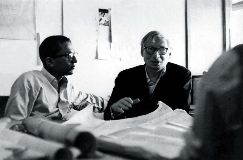 Balkrishna Doshi with Louis Kahn