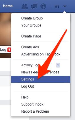 Access Facebook Settings