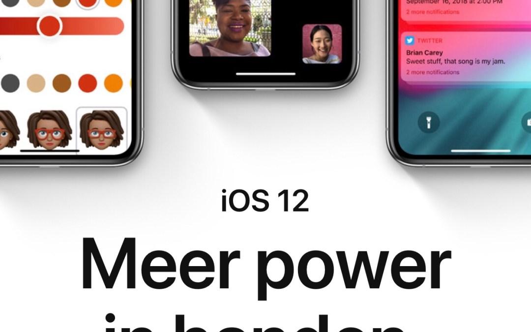 iPhone update iOS 12.1 is onveilig. Wacht maar even met updaten