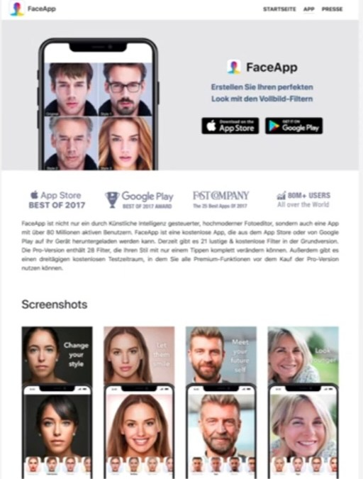Politie waarschuwt op Facebook om FaceApp niet te installeren. De app is onveilig