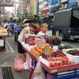 Mała firma, sprzedawca owoców, Bangkok