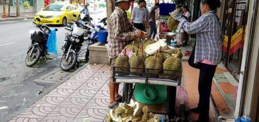 Mała firma, Sprzedawca owoców durian, Bangkok