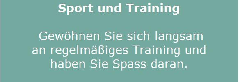 Sport und Training