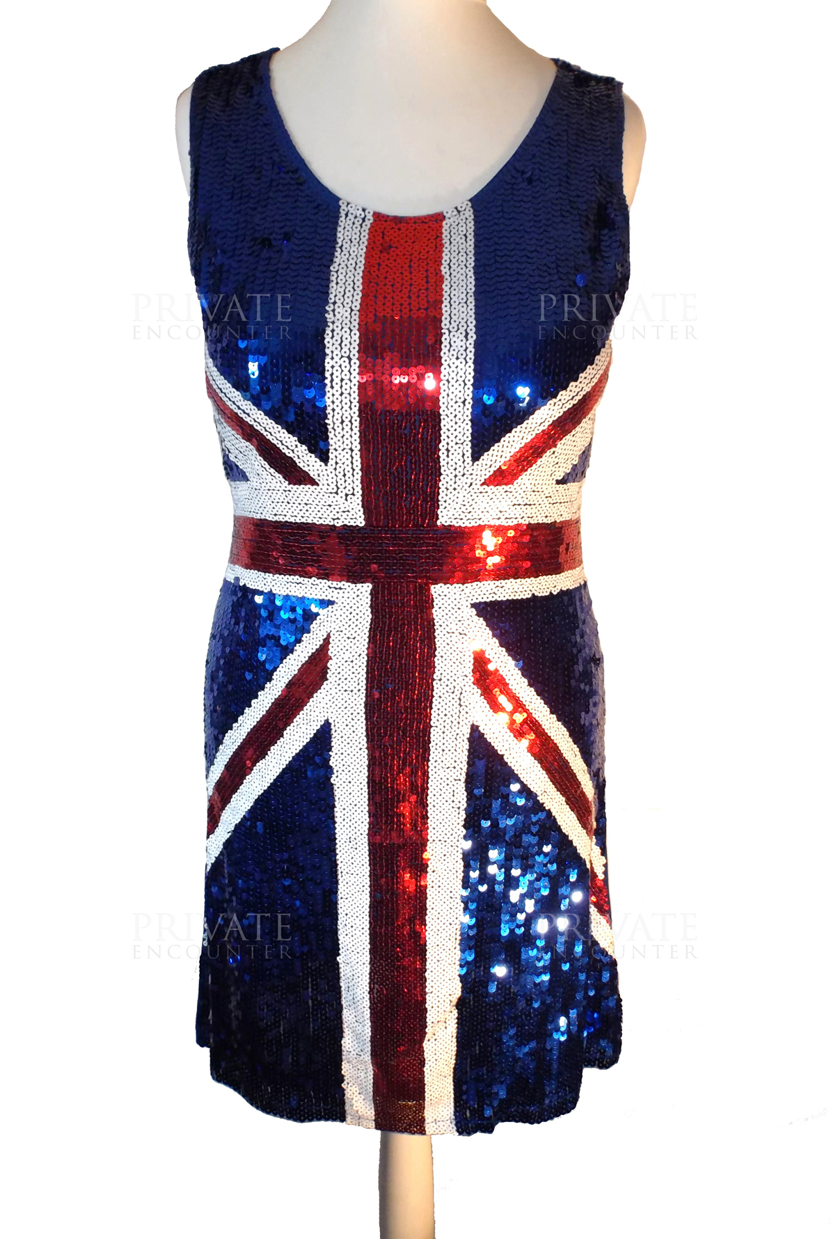 Sequin British , Union Jack, Eurovision , Spice Girls Style Dress ...