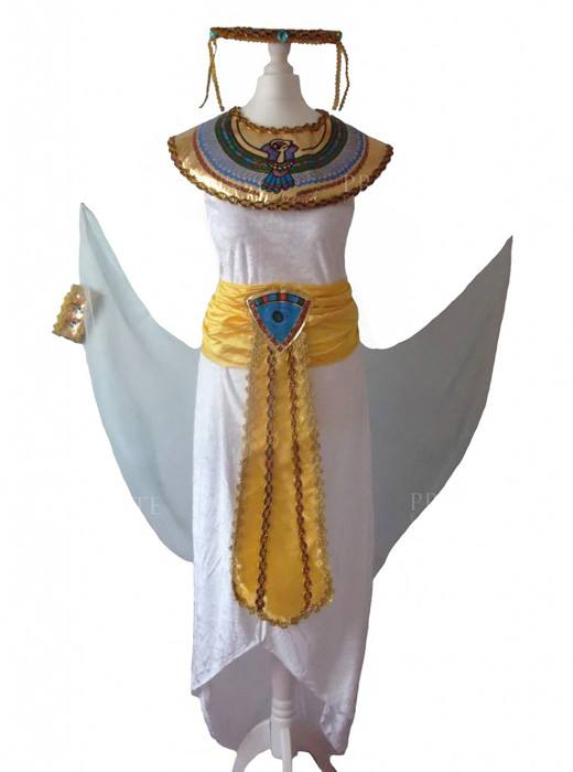 Cleopatra Queen of the Nile, Egyptian Toga, Historical Fancy dress Costume