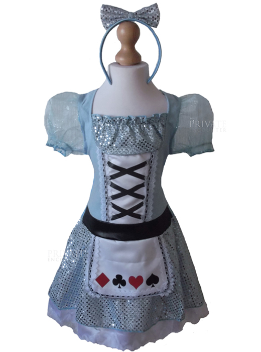 Girls Fairytale Card Girl, Alice In Wonderland Style, Fancy Dress Costume, World Book Day Age 4-6 years