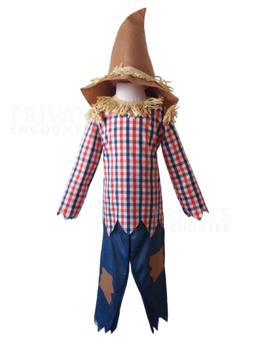 Childs Scarecrow Oz Fancy Dress Costume, World Book Day, Halloween Age 5-6 years