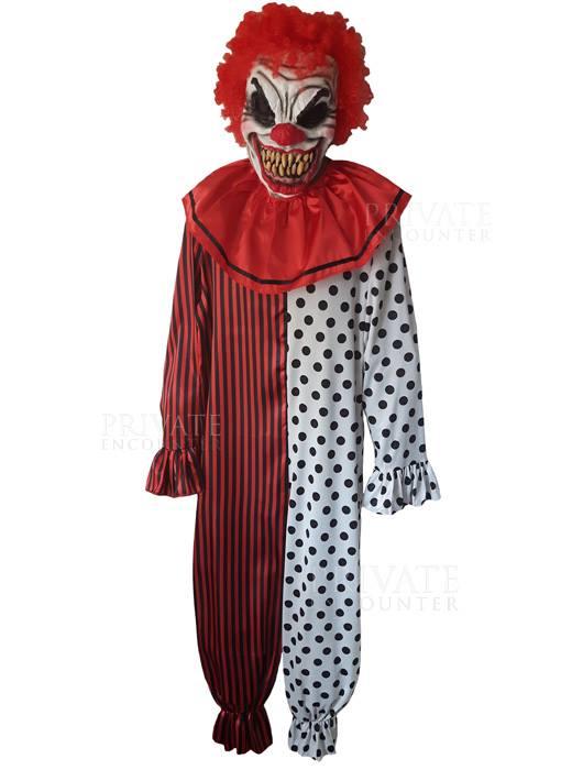 Scary Clown Halloween Costume.Evil Scary Circus Clown Halloween Horror Fancy Dress Costume
