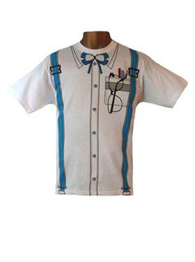 Unisex Fun Geek Nerd Style T-Shirt Stag Hen Fancy Dress Costume